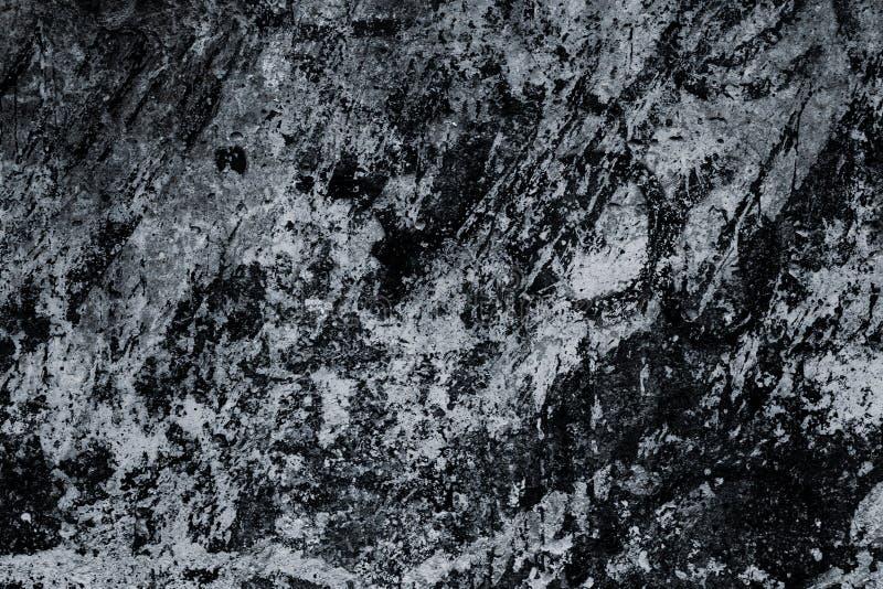 Schwarzweiss-Marmoroberfläche, Beschaffenheit Abstrakter Hintergrund, Muster Dunkle Fliesennahaufnahme, großer Entwurf Alte schmu stockfotografie