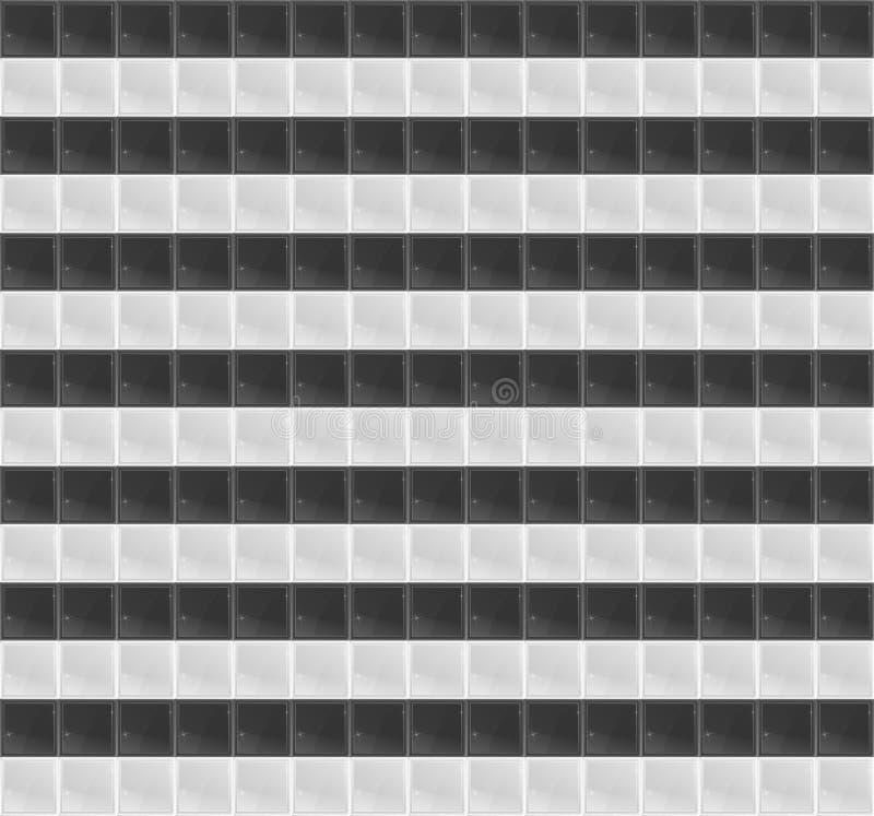 Schwarzweiss-Muster-vierflächiges Mosaik stock abbildung
