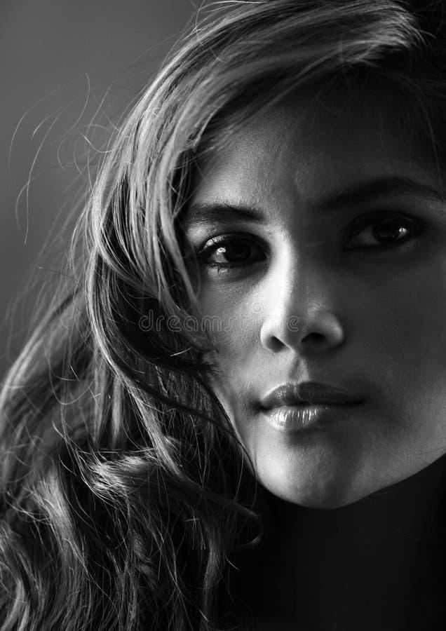Schwarzweiss-Portrait stockfoto