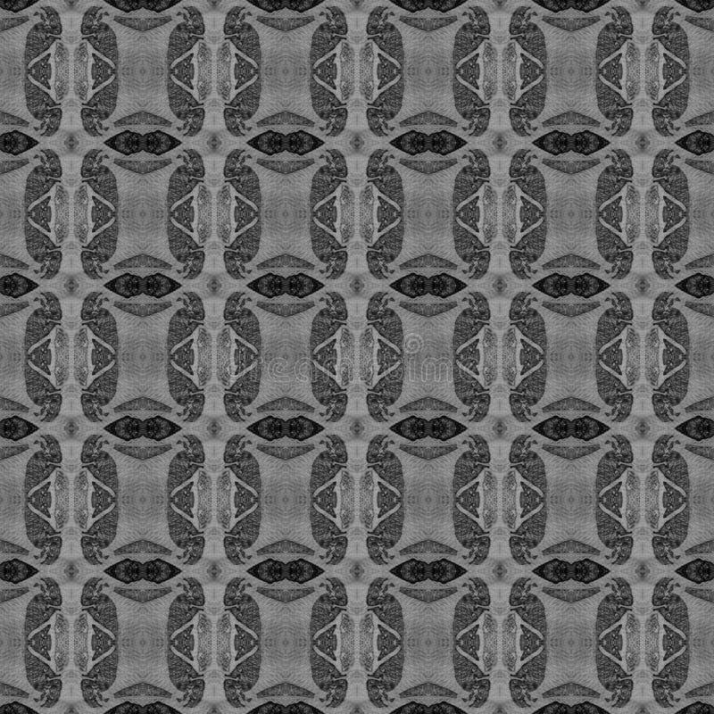 Schwarzweiss-Quadrat alles über nahtlosem Muster H stockbilder