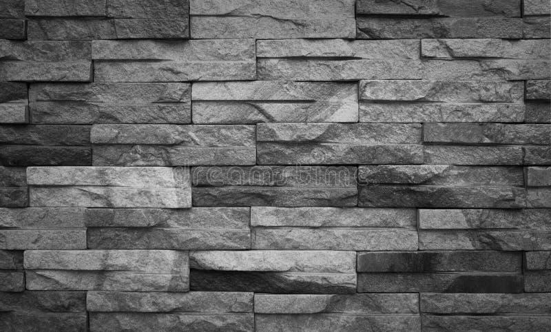 Schwarzweiss-Sandsteinziegelsteinwandhintergrund lizenzfreies stockfoto