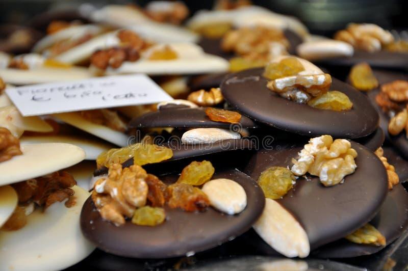 Schwarzweiss-Schokoladenplätzchen stockfotos