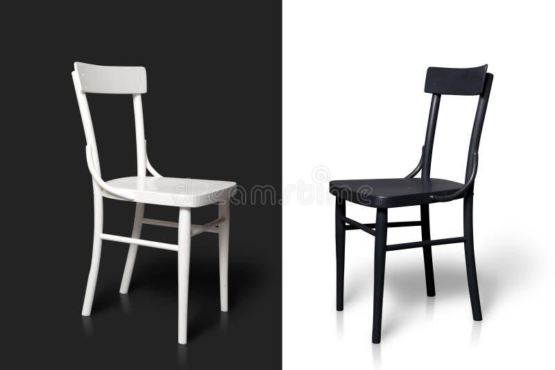 Schwarzweiss-Stühle lizenzfreies stockfoto