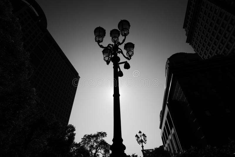 Schwarzweiss-Stadtbild stockfotos
