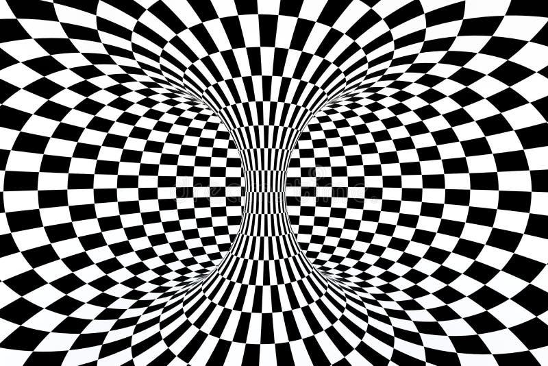 Schwarzweiss-Streifen, Linien wiederholend, Wiedergabe 3d lizenzfreies stockfoto