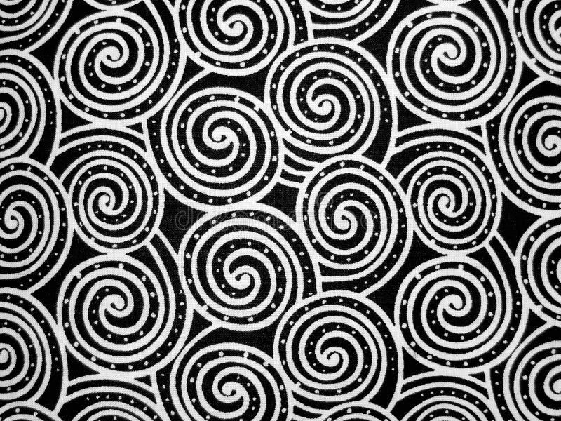 Schwarzweiss-Strudel-Hintergrund lizenzfreie stockbilder