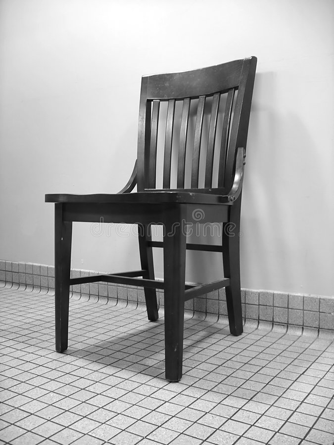 Schwarzweiss-Stuhl stockfotografie