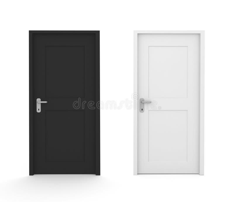 Schwarzweiss-Türen vektor abbildung