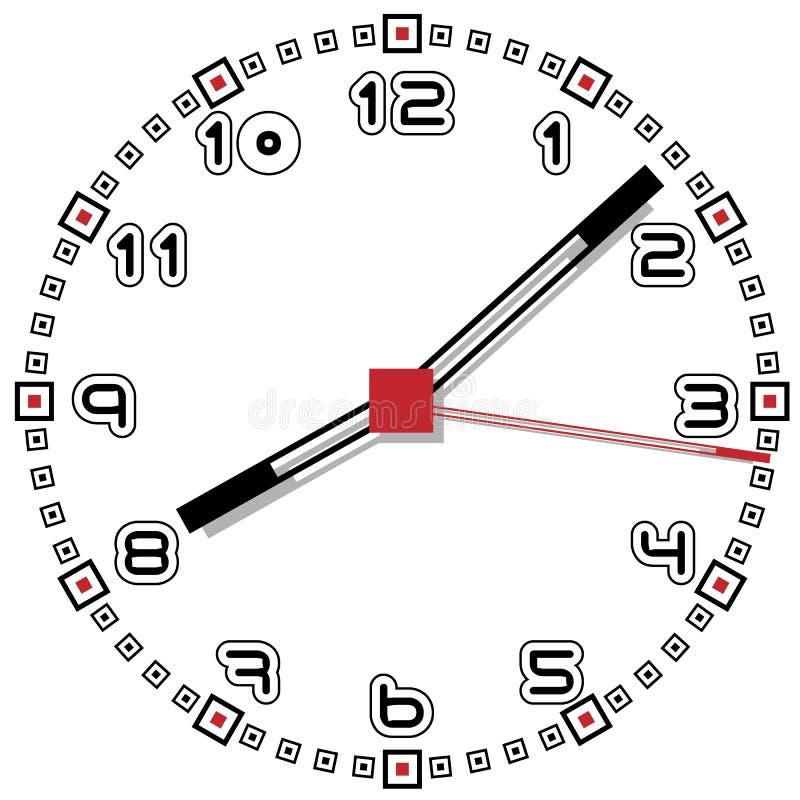 Schwarzweiss-Uhr einfache fünfzig eine Ausgabe vektor abbildung