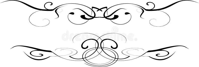 Schwarzweiss-Vektor aufwändig vektor abbildung