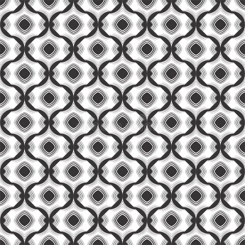 Schwarzweiss-Vektor und geomatrical Muster, Schablone lizenzfreie abbildung