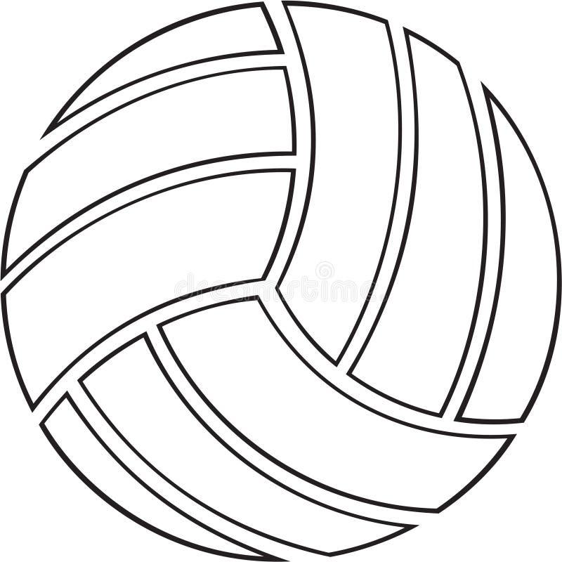 Schwarzweiss-Volleyball-Illustration lizenzfreie abbildung