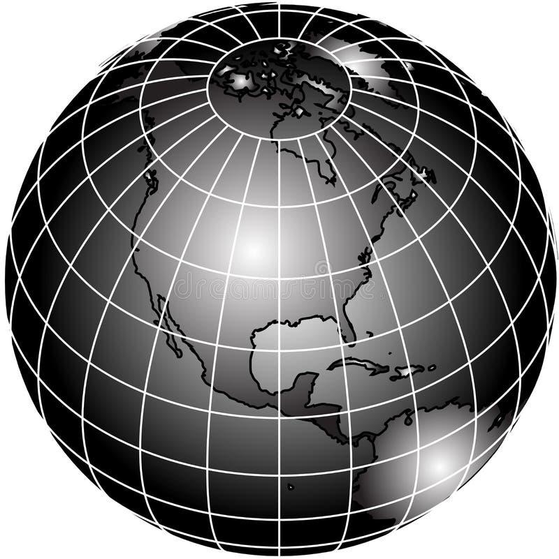 schwarzweiss weltkugel vektor abbildung illustration von nord 2581156. Black Bedroom Furniture Sets. Home Design Ideas