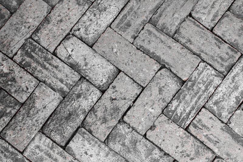 Schwarzweiss-Ziegelsteine stockbilder