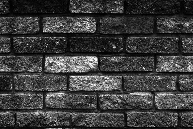 Schwarzweiss-Ziegelsteine stockfotos