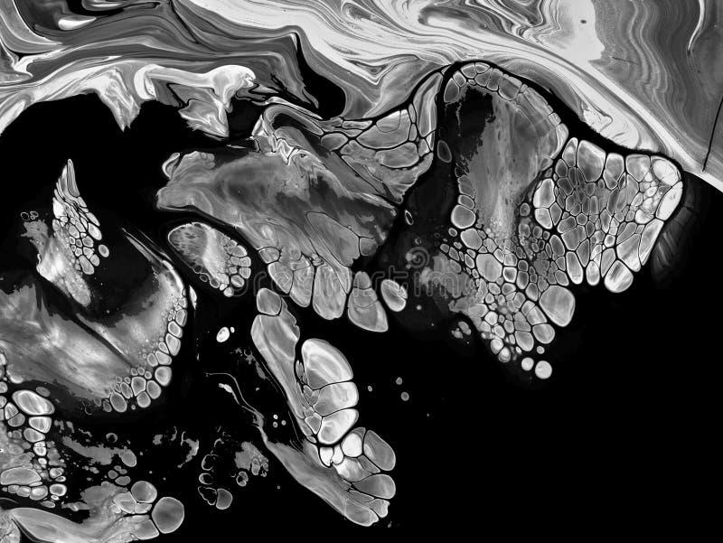 Schwarzweiss-Zusammenfassung malte Hintergrund, Tapete, Beschaffenheit Moderne Kunst stock abbildung