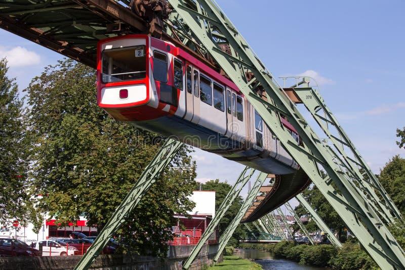Schwebebahn Train In Wuppertal Germany Stock Image Image of