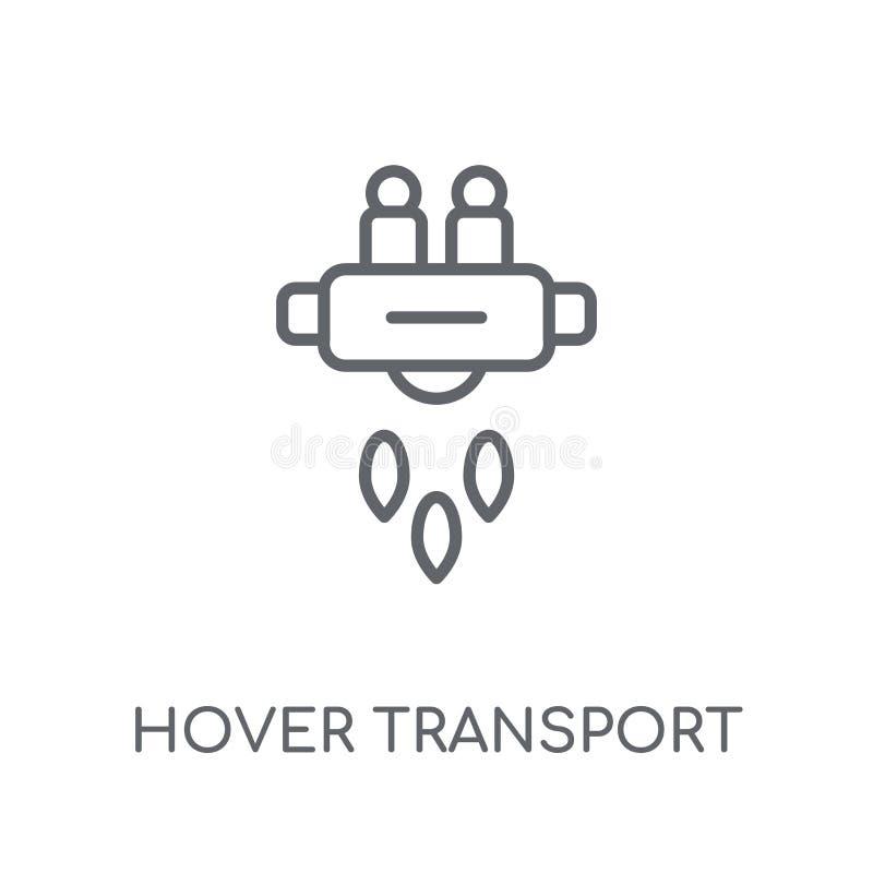 Schweben lineare Ikone des Transportes Modernes Entwurf Schwebeflug-Transportlogo vektor abbildung