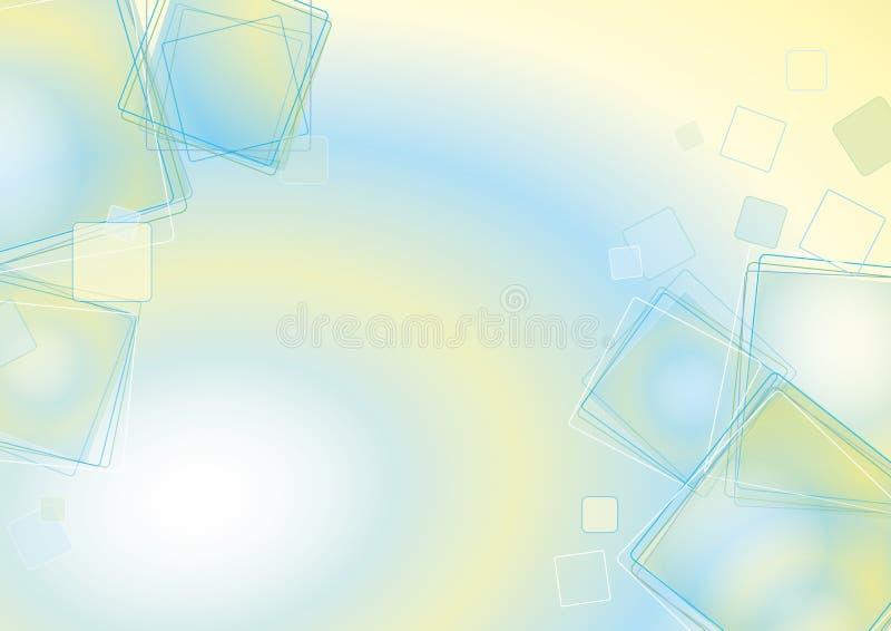 Schwebende Quadrate lizenzfreie abbildung