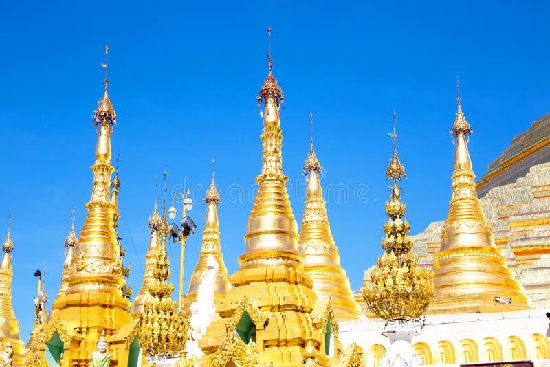 Schwedagon pagod i Yangon Myanmar arkivfoto