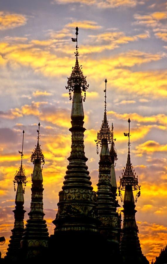 schwedagon pagoda Бирмы myanmar стоковые фотографии rf
