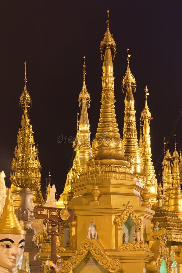 schwedagon pagoda стоковое фото
