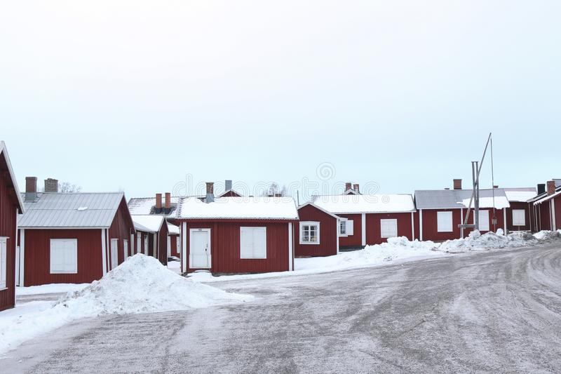 Schweden, alte Stadt Luleå, Gammelstad stockbild