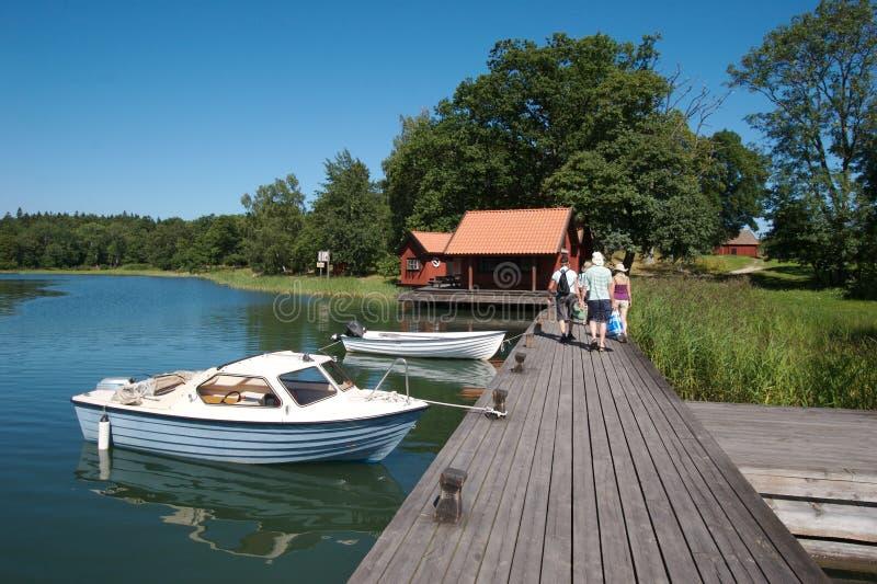 Schweden-Bootsdock 10 stockbild