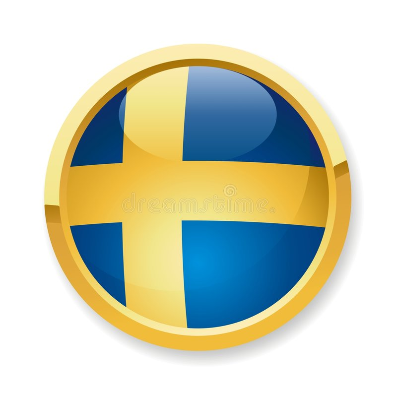 Free Schweden Flag Button Stock Photos - 7887503