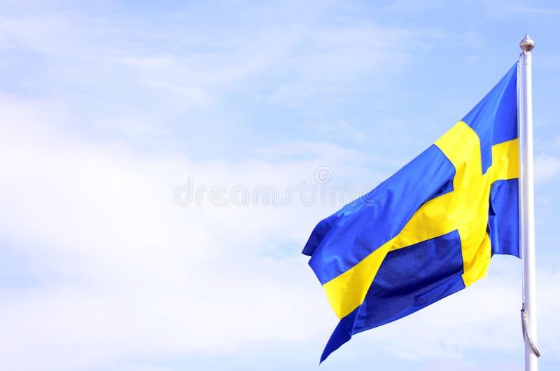 Schweden-Markierungsfahne stockfotografie