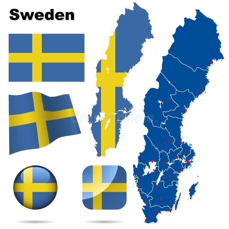 Schweden-Set. lizenzfreie abbildung