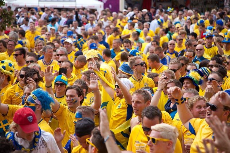 Schweden und ukrainische Gebläse kamen an stockfoto
