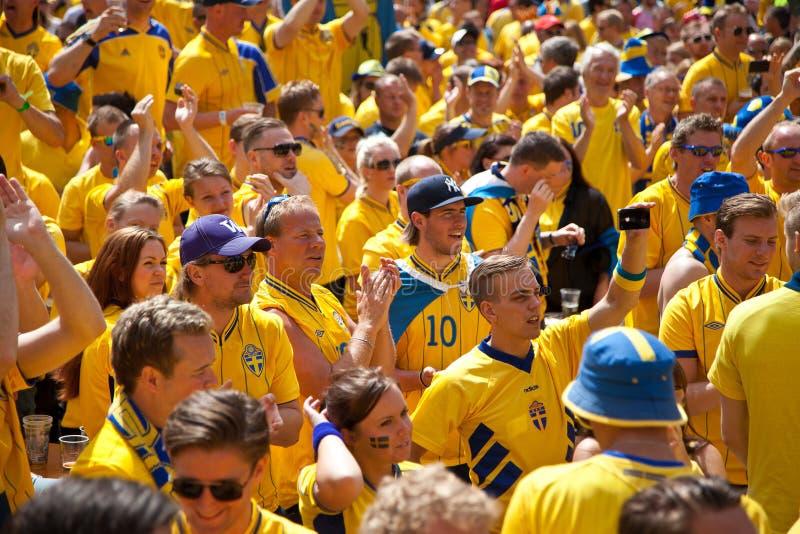 Schweden und ukrainische Gebläse kamen an stockbilder
