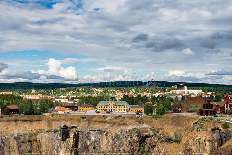 Schwedische Bergbau-Stadt Falun stockbild