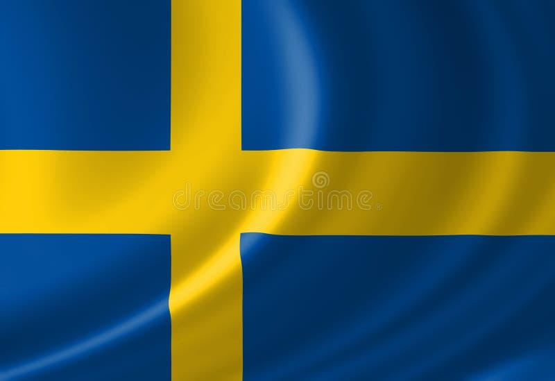 Schwedische Flagge stock abbildung