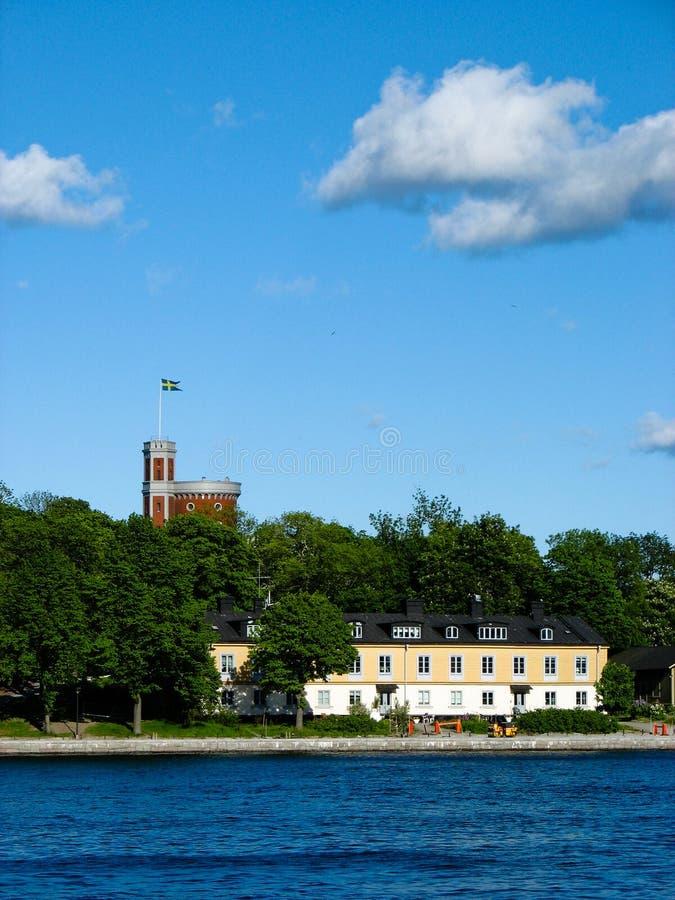 Download Schwedische Insel Und Schloss Stockbild - Bild von grün, ökologie: 26365325