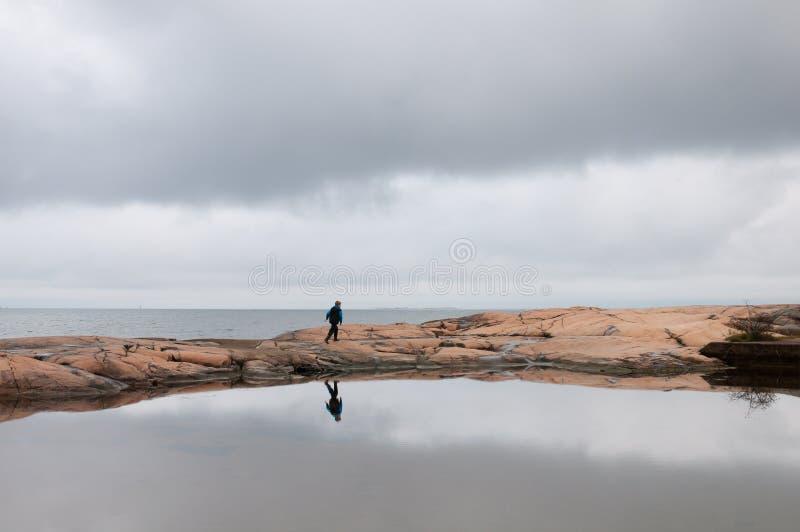 Schwedische Küste stockfotos