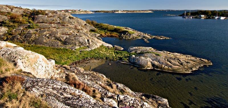 Schwedische Küstenlinie stockfoto