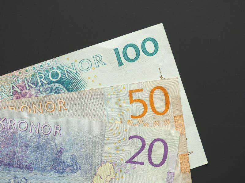 Schwedische Krone u. x28; SEK& x29; Anmerkungen, Währung von Schweden u. x28; SE& x29; stockbild