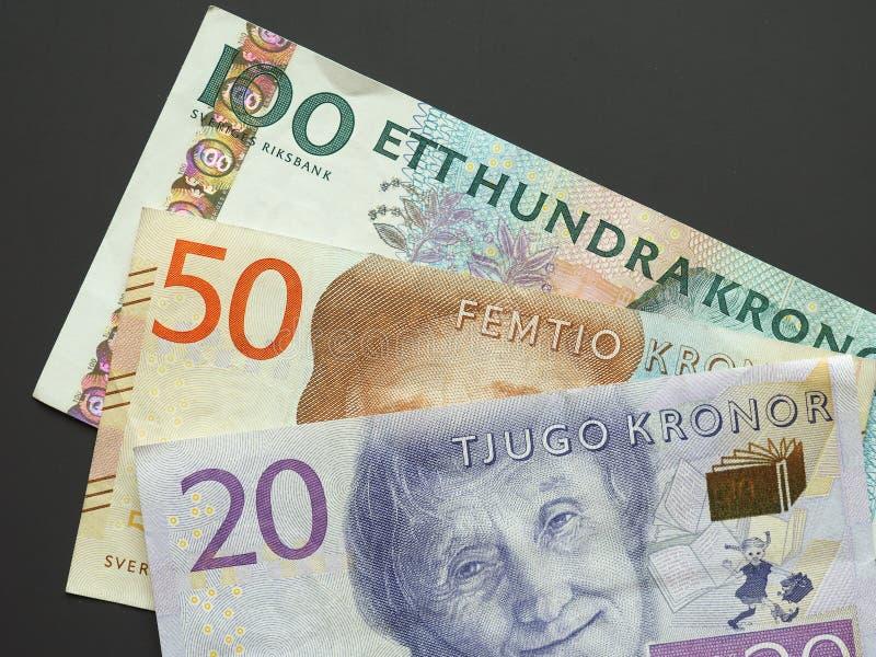 Schwedische Krone u. x28; SEK& x29; Anmerkungen, Währung von Schweden u. x28; SE& x29; stockbilder