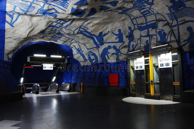 Schwedische Metro lizenzfreies stockbild