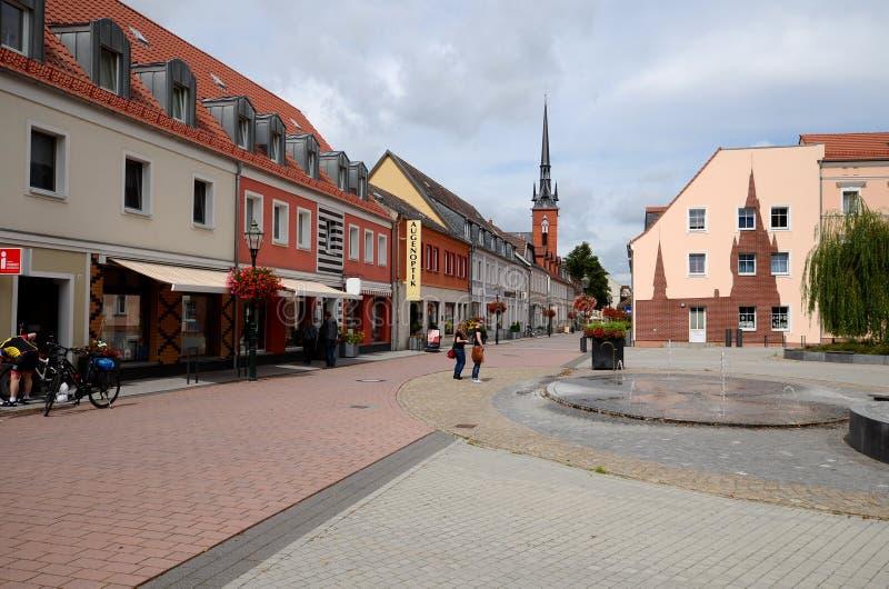 Schwedt en la Alemania Oriental imagen de archivo libre de regalías