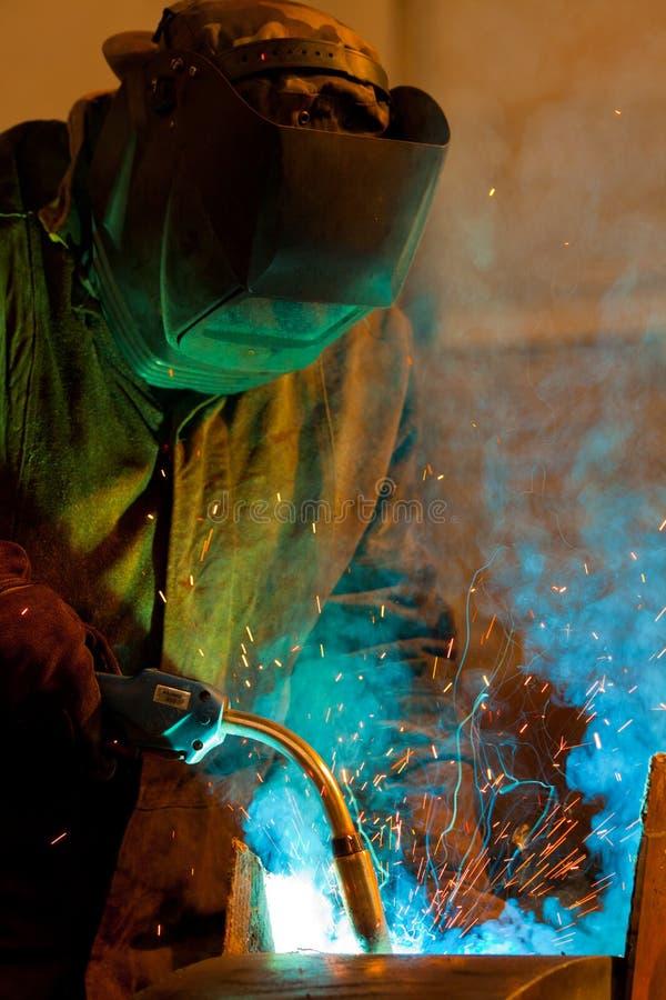 Schweißens-Stahl lizenzfreie stockfotografie
