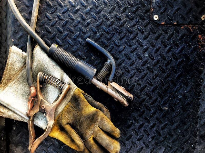 Schweißensausrüstung stockbilder