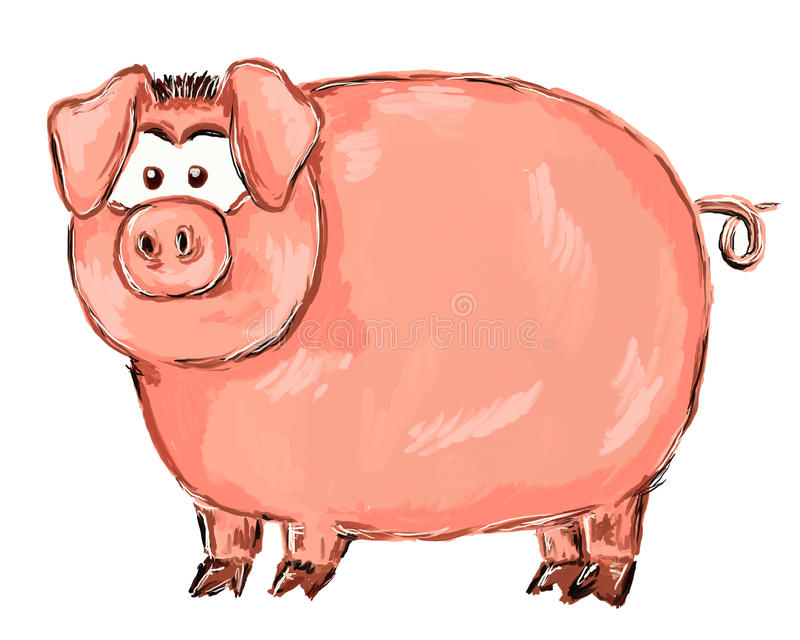 Schwein lizenzfreie abbildung