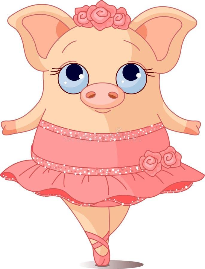 Schwein-Ballerina lizenzfreie abbildung