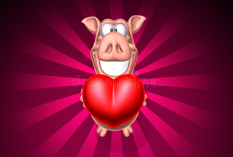 Schwein, das etwas Liebe gibt vektor abbildung