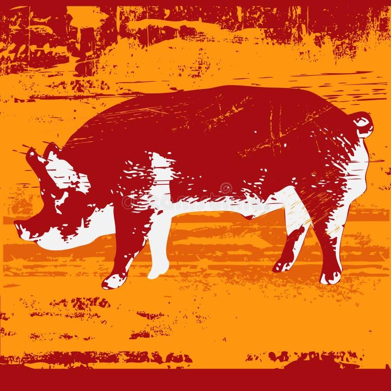 Schwein Grunge stock abbildung