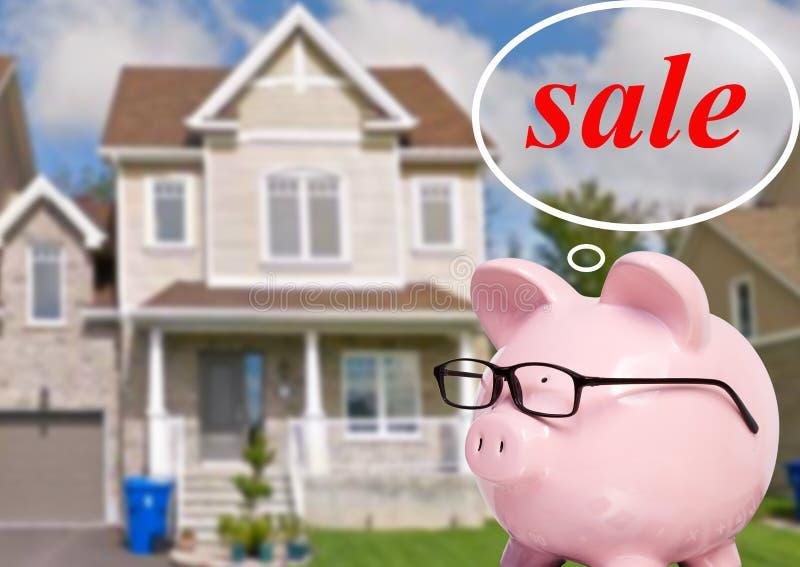 Schweinbank und -häuschen stockfoto