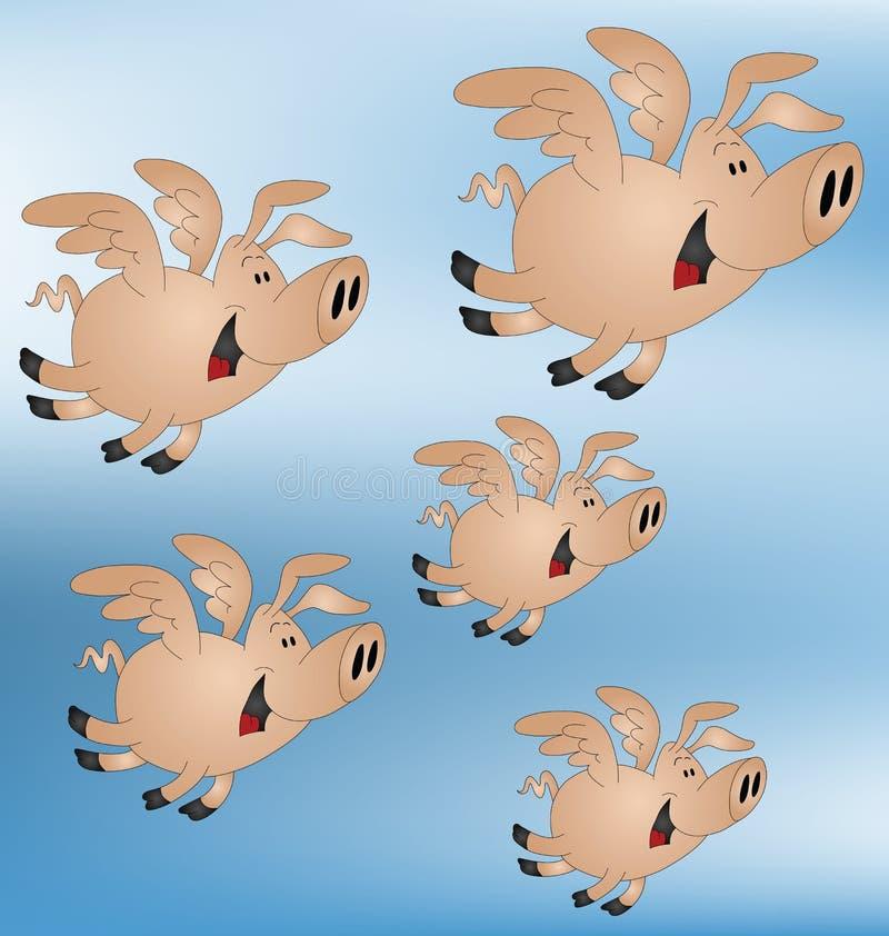 Schweine konnten fliegen vektor abbildung